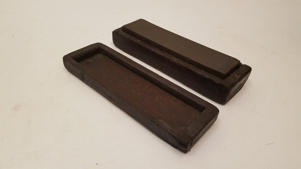 "7 3/4"" x 2"" x 1"" Sharpening Stone in Wooden Box 35723"