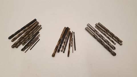 "Mixed Job Lot of Drill Bits Various Sizes 1/16"" - c 3/8"" 35662"