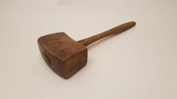 Very Nice Vintage 1lb Carpenters Wooden Mallet 36151