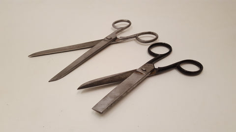 Pair of Large Vintage Scissors in Nice Leather Case 36039
