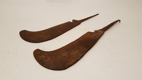 Pair of West of England Pattern Billhooks Restoration Project 36115