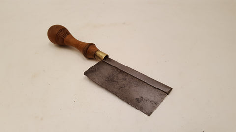 "V Small 4"" Vintage Steel Back Gents Saw w 15 1/2 TPI 36359"
