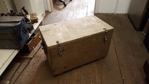 "22"" x 12"" x 13"" Vintage 2 Compartment Wooden Box 36521"