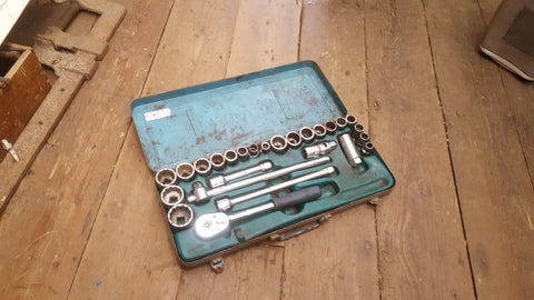 "Large Matador Socket Set w Some Britool Bits 7/16""AF - 7/8BS 36422"