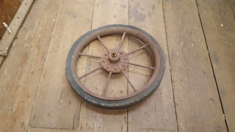 "15"" Vintage Wheelbarrow Wheel 36685"