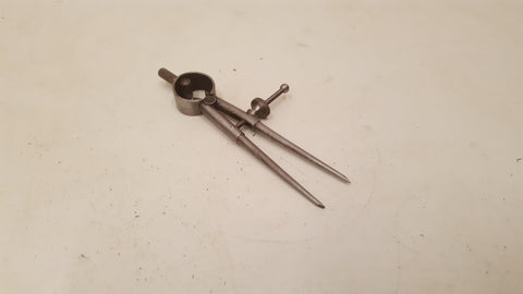 "Tiny 3"" Vintage Moore & Wright Spring Arm Compass Divider 36495"