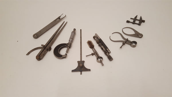 Mixed Job Lot of Vintage Engineers Tools Calipers Micrometer etc 36693