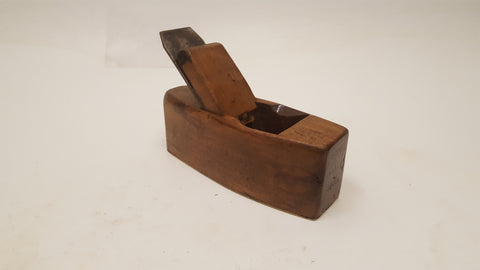 "7 1/2"" Vintage Wooden Coffin Plane w Brass Sole 36595"