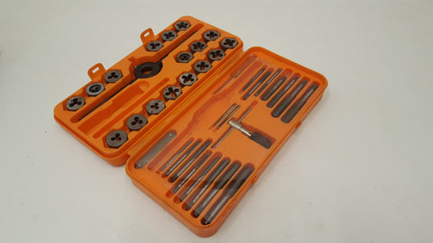 Almost Complete Tap & Die Set Tungsten Steel Combination Thread 38271
