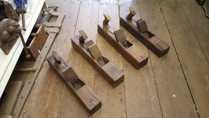 Mixed Job Lot of Vintage Wooden Fore Planes Barn Find As Seen 38332