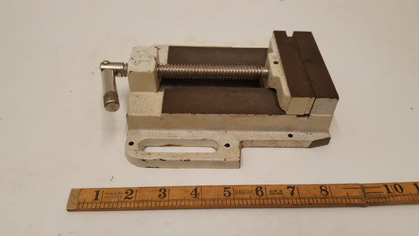 "Vintage 4"" Drill Press Vice w Small Chip in Jaw 38500"