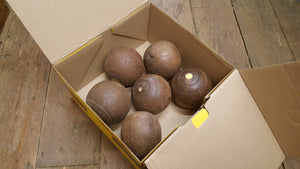 Set of 6 Ligum Bowling / Skittles Balls Poss. Turning Project 38606