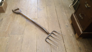 "36"" Vintage Strapped Garden Fork w Wide Head 38809"