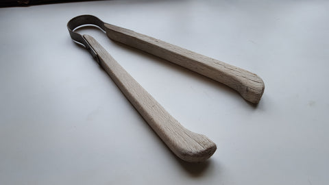 "Large 13"" Vintage Wooden Laundry Tongs 39119"