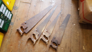 Mixed Bundle of 4 Vintage Unrestored Panel Saws 39231