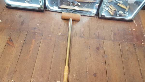 Incredible 1984 Broad Arrow Huge 7lb Brass Handled Mallet Broad Arrow 84 12202-The Vintage Tool Shop