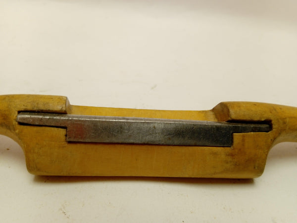 "10 1/2"" Wooden Spokeshave 2"" Cutting Edge User Modifided Curved Sole 13777-The Vintage Tool Shop"