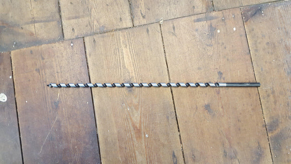 "Lightly Used if at all 10mm 17"" Long Auger Drill Bit 14779-The Vintage Tool Shop"