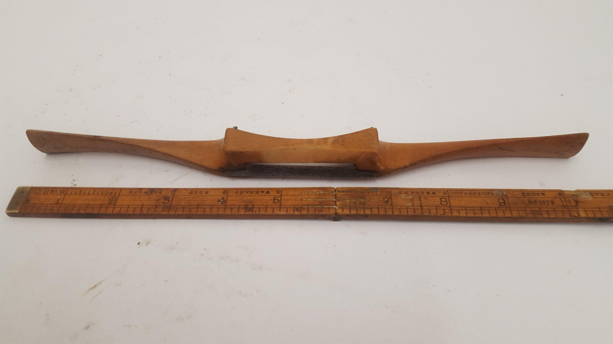 "Ward & Paine 2"" Spokeshave Flat Sole 14821-The Vintage Tool Shop"