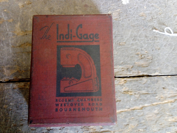 Indi Gage Dimension Checking Caliper Original Box VGC 18455-The Vintage Tool Shop