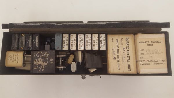 Vintage Double Level Military Radio Fusebox + Radio Crystals 18106