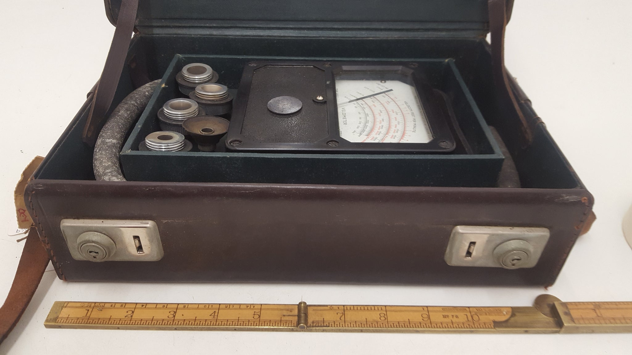 Metropolitan-Vickers Co Metrovick Velometer Leather Case VGC 17849