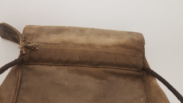 "15"" x 6"" x 13"" Vintage MOD Canvas Military Saddle Bag Rucksack 19282"
