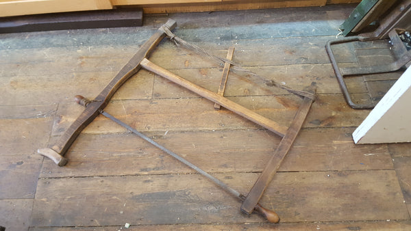"Incredible Antique 26"" Bow Saw 4TPI 21540"