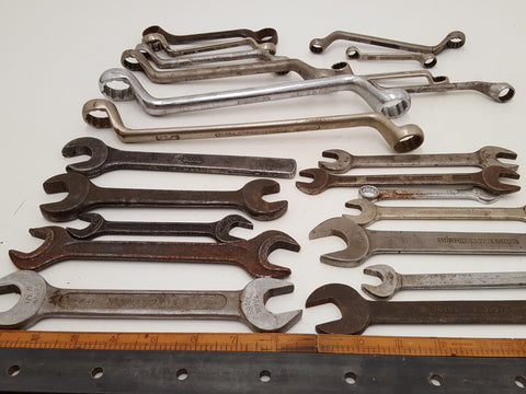 Huge Job Lot Mixed Vintage Spanners 19069