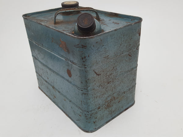 "Nice Vintage Fuel Can w Screw on Spout 7 x 5 1/2 x 8 1/2"" 23365"