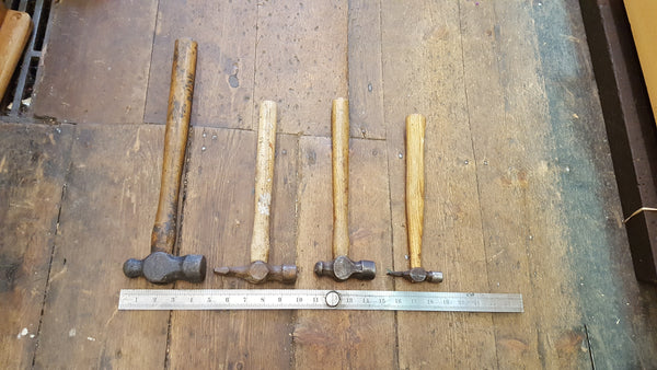 Bundle of 4 Various Sized & Type of Hammer Unrestored 24150