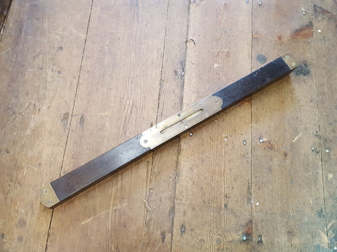 "Vintage 24"" Brass & Wood Spirit Level 26088"