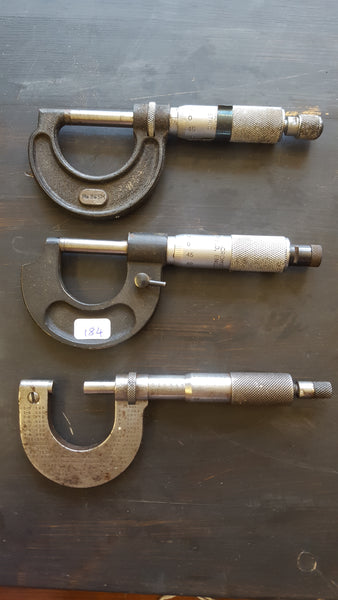 Mixed Bundle of 3 Vintage Micrometers 28404