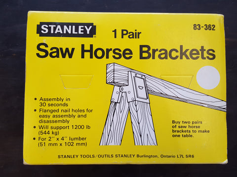 NOS Pair of Stanley Saw Horse Brackets Boxed 28414