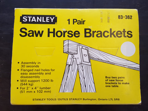 NOS Pair of Stanley Saw Horse Brackets Boxed 28413