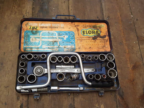 "Partial Elora Combination Socket Set Whit & AF 1/2"" Square 29114"