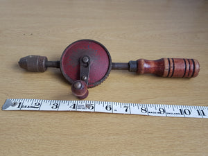 "Vintage 11 1/2"" Viking Egg Beater Hand Drill Made in USA 31550"