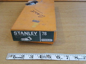 Lovely NOS Stanley No 78 Duplex Rebate / Rabbet Plane in Box 31620