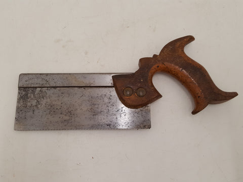 "Cut Down 7"" Vintage Ross & Alexander Steel Back Saw w 15 TPI 31758"
