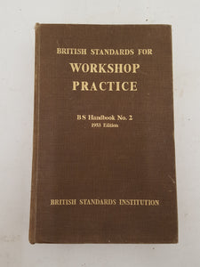 Workshop Practice BS Handbook No 2 Vintage Book 31752