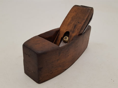 Beautiful Vintage Varvill & Sons Wooden Coffin Plane w Steel Sole 31824