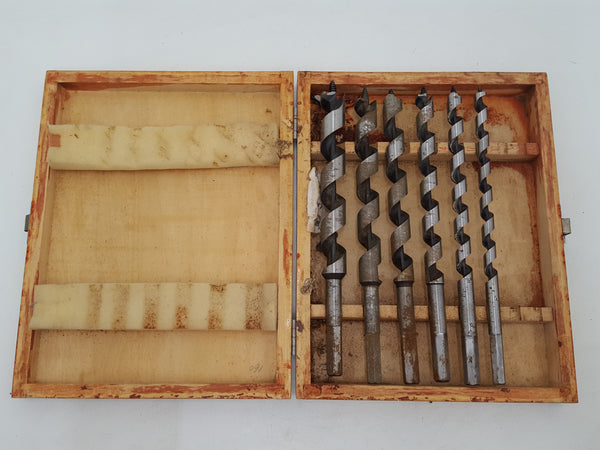 "Set of Drill Bits 3/4 - 3/8"" in Box Missing Two 31837"