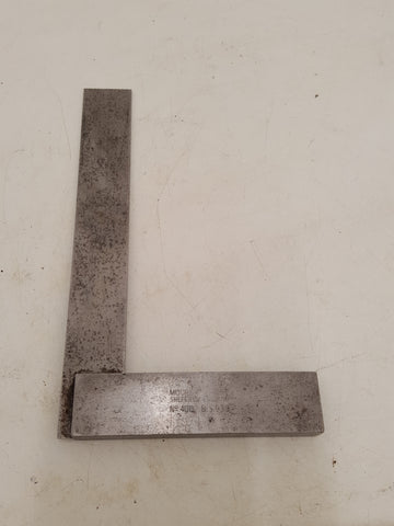 "6 1/4"" Vintage Moore & Wright No 400 Steel Try Square 31888"