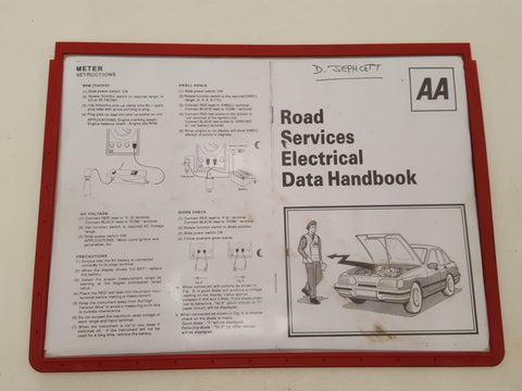 AA Road Service Electrical Data Handbook 31969