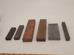 Mixed Bundle of 6 Sharpening Stones Various Sizes and Types 32110