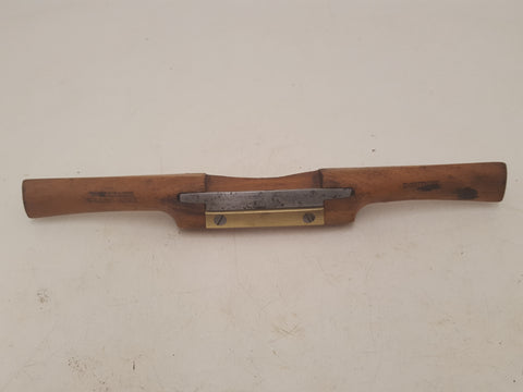 Beautiful Vintage Williams & Long Acre Wooden Spokeshave w Brass Mouth 32596