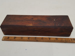 "Beautiful 8 x 2"" Vintage Sharpening Stone in Wooden Box 32735"