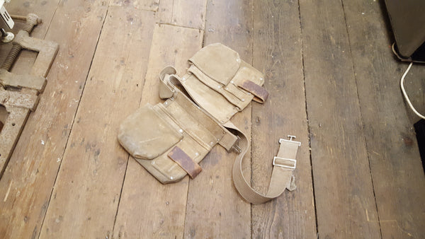 Very Nice Vintage Leather Tool Belt w Canvas Belt 36254