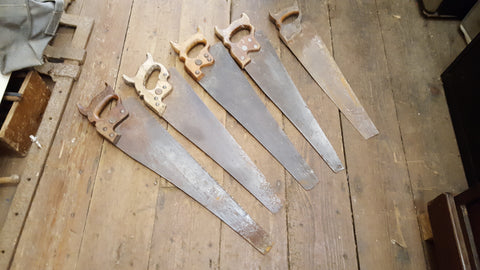 Mixed Job Lot of 5 Panel Saws Restoration Project 36331