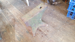 "Very Nice 16 1/2"" x 5 1/2"" Vintage Blacksmith Anvil 36518"